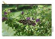 Zebra Longwing Butterfly On Flower Carry-all Pouch