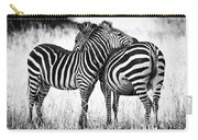 Zebra Love Carry-all Pouch by Adam Romanowicz