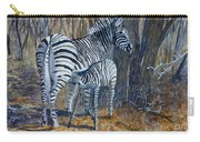 Zebra Mother And Foal Carry-all Pouch