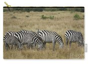 Zebra On Masai Mara Plains Carry-all Pouch