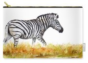 Zebra Panoramic Carry-all Pouch