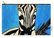 Zebra Portrait 5 Carry-all Pouch