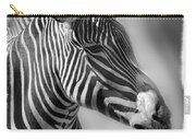Zebra Profile In Black And White Carry-all Pouch