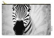 Zebra Profile In Bw Carry-all Pouch
