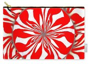 Zebra Red Swirling Kaleidoscope  Carry-all Pouch