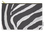 Black And White Zebra Stripes Carry-all Pouch