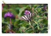 Zebra Swallowtail Butterfly In Garden Carry-all Pouch