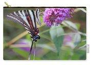 Zebra Swallowtail Butterfly On Butterfly Bush  Carry-all Pouch