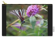 Zebra Swallowtail Butterfly On Butterfly Bush  Carry-all Pouch
