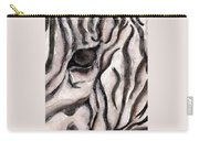 Zebra Watercolor Carry-all Pouch