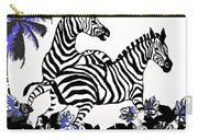 Zebras At Play Carry-all Pouch