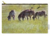 Zebras In Africa Carry-all Pouch