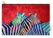 Zebras In Love  Carry-all Pouch