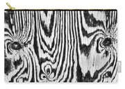 Zebras In Wood Carry-all Pouch