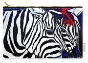 Zebras On A Blue Night Carry-all Pouch