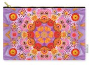Zinna Flower Mandala Carry-all Pouch