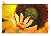 Zinnia And Sunflower Carry-all Pouch