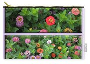 Zinnias 4 Panel Vertical Composite Carry-all Pouch