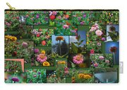 Zinnias Collage Rectangle Carry-all Pouch