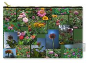 Zinnias Collage Square Carry-all Pouch