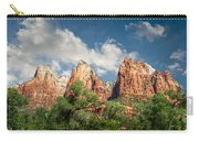 Zion Court Of The Patriarchs Carry-all Pouch by Tammy Wetzel