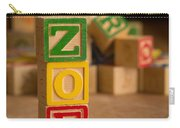 Zoe - Alphabet Blocks Carry-all Pouch