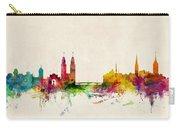 Zurich Switzerland Skyline Carry-all Pouch by Michael Tompsett