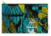 3 Caged Birds Grunge Carry-all Pouch