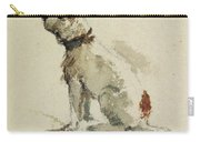 A Terrier - Sitting Facing Left Carry-all Pouch by Peter de Wint