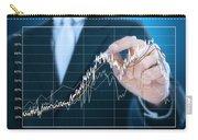 Businessman Writing Graph Of Stock Market  Carry-all Pouch by Setsiri Silapasuwanchai