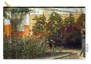 Corner Of A Roman Garden Carry-all Pouch by Sir Lawrence Alma-Tadema
