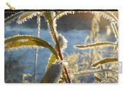Frost On Willow At Sunrise Carry-all Pouch