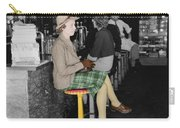 Lady In A Diner Carry-all Pouch by Andrew Fare