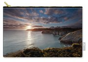 Lydstep Cliffs Sunset Carry-all Pouch