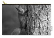 Red Squirrel In Bw Carry-all Pouch