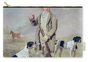 Richard Prince With Damon - The Late Colonel Mellish's Pointer Carry-all Pouch by Benjamin Marshall