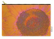 Sunflower In Orange And Pink Carry-all Pouch