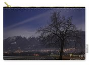 Tree And Snow-capped Mountain Carry-all Pouch