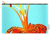 Turquoise And Tiger Lily Carry-all Pouch