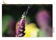 0001 Dragonfly Yoga On A Salvia Burgundy Candle Carry-all Pouch
