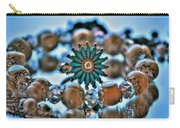 0001 Turquoise And Pearls Carry-all Pouch
