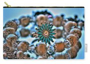 0002 Turquoise And Pearls Carry-all Pouch