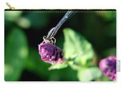 0003 Dragonfly Yoga On A Salvia Burgundy Candle Carry-all Pouch