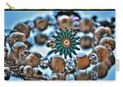 0003 Turquoise And Pearls Carry-all Pouch