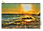 0009 Windy Waves Sunset Rays Carry-all Pouch