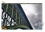 002 Stormy Skies Peace Bridge Series Carry-all Pouch