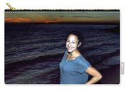 003 A Sunset With Eyes That Smile Soothing Sounds Of Waves For Miles Portrait Series Carry-all Pouch