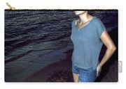 004 A Sunset With Eyes That Smile Soothing Sounds Of Waves For Miles Portrait Series Carry-all Pouch