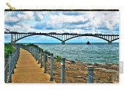 004 Stormy Skies Peace Bridge Series Carry-all Pouch