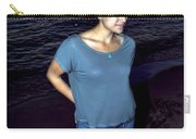 005 A Sunset With Eyes That Smile Soothing Sounds Of Waves For Miles Portrait Series Carry-all Pouch